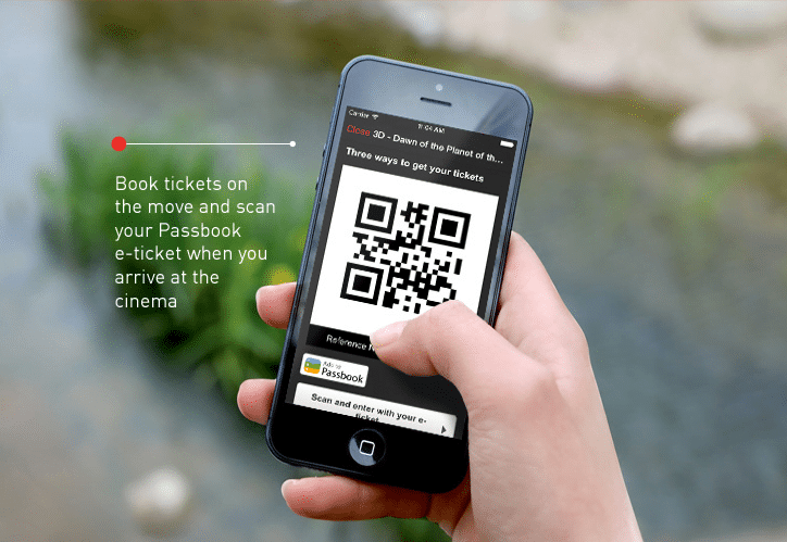 Cineworld mobile purchase and eTicket