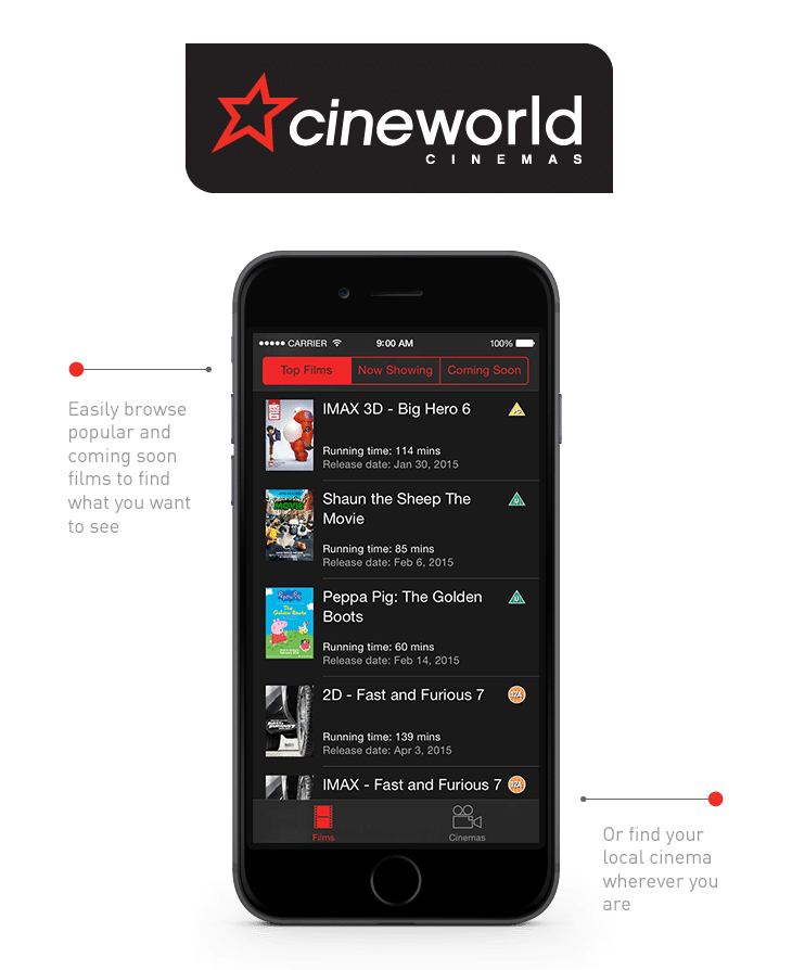 Cineworld – logo and device
