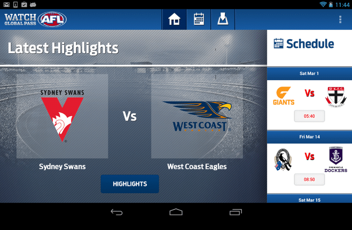 AFL Highlights Android