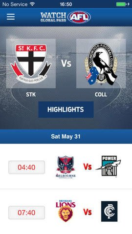AFL Highlights iOS