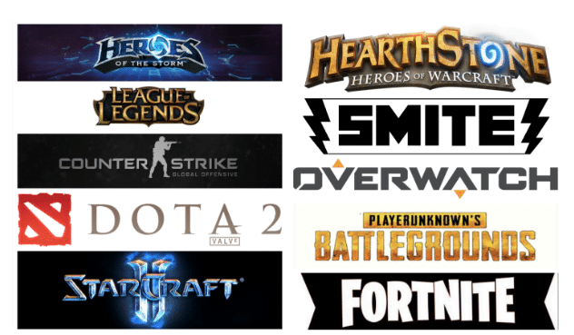 Top 10 esports titles.