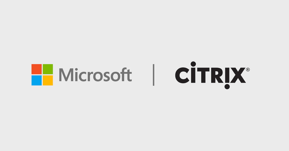 Microsoft and Citrix logos