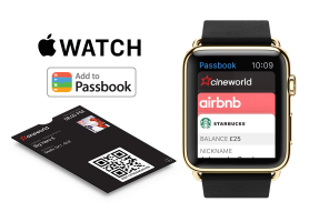 Apple Watch ad demonstrates Can Factory integration of a Cineworld Passbook on the Apple Watch